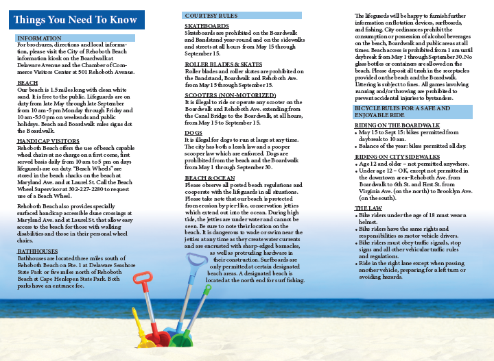 City of Rehoboth Beach Parking & Walking guide by iKANDE