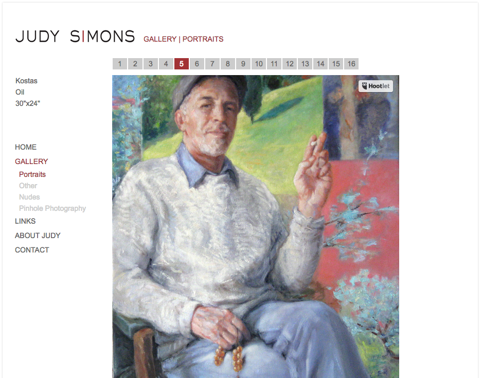 Judy Simons painter website by iKANDE