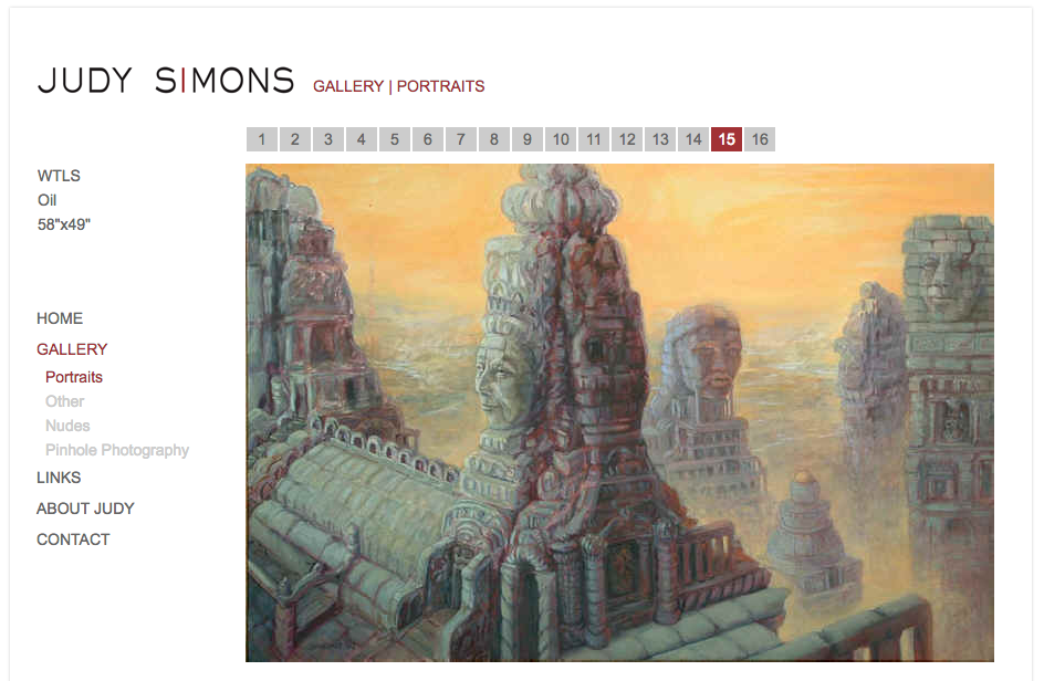Judy Simons artist website home by iKANDE