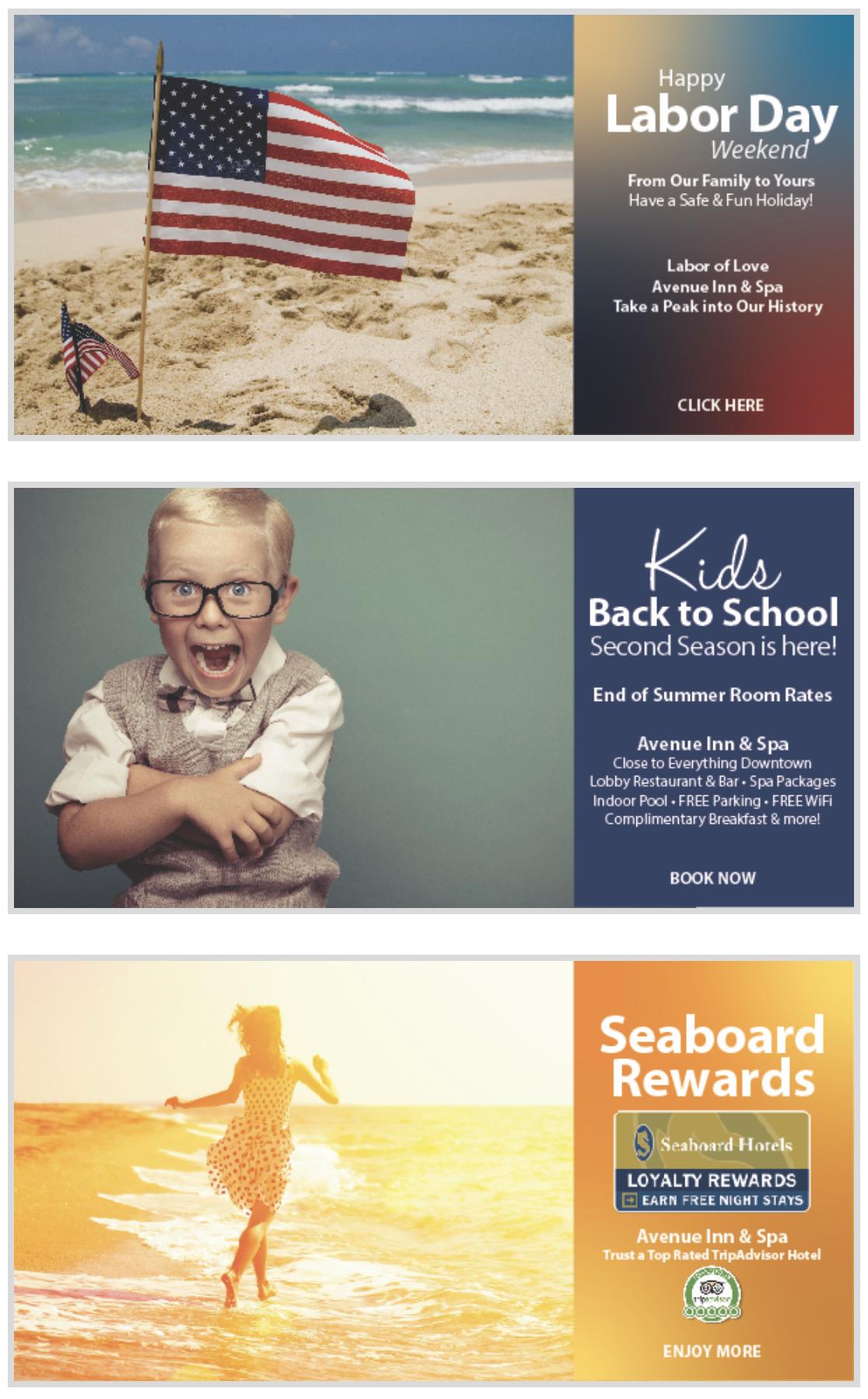 Avenue Inn & Spa email marketing by iKANDE web design