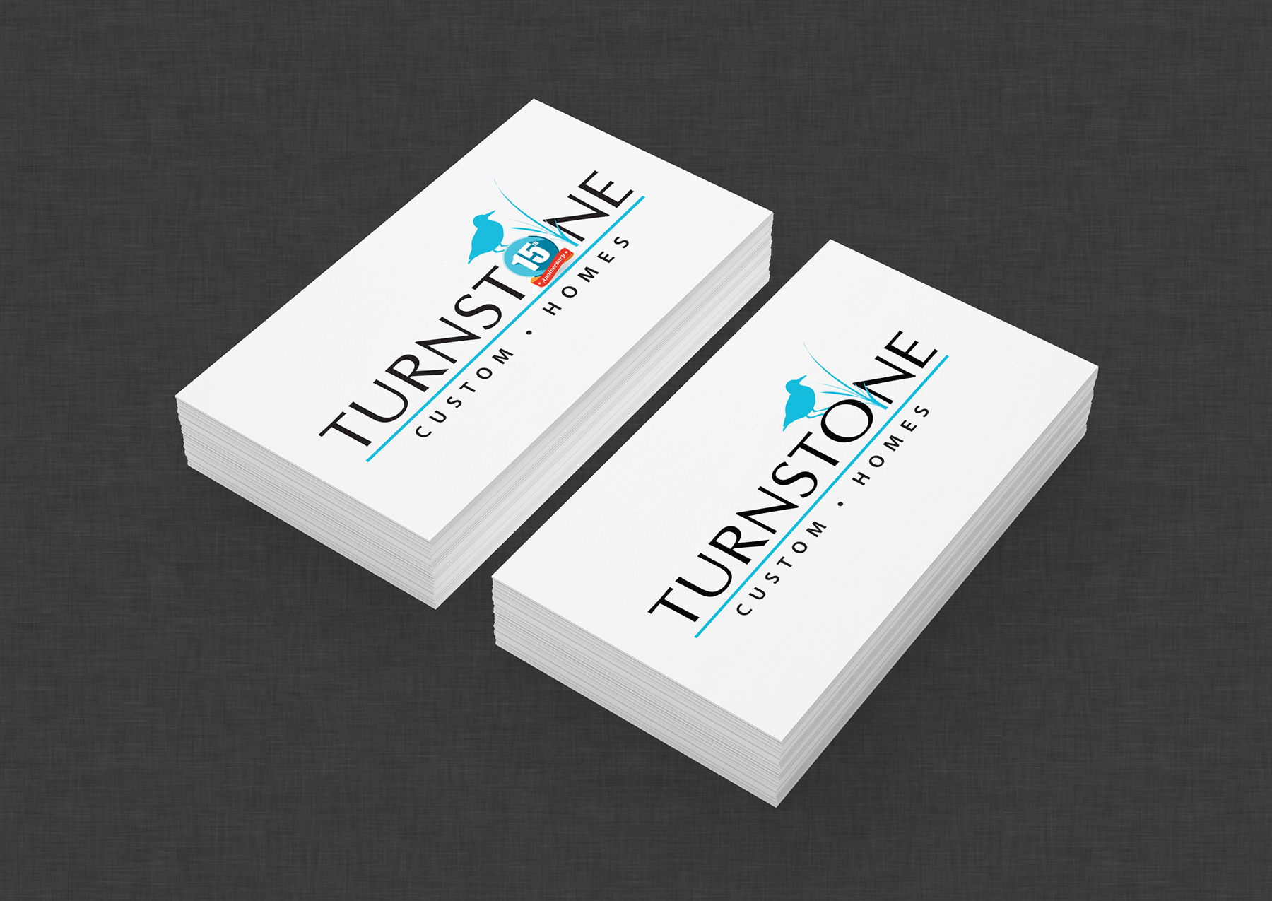 Turnstone Custom Homes logo iKANDE design