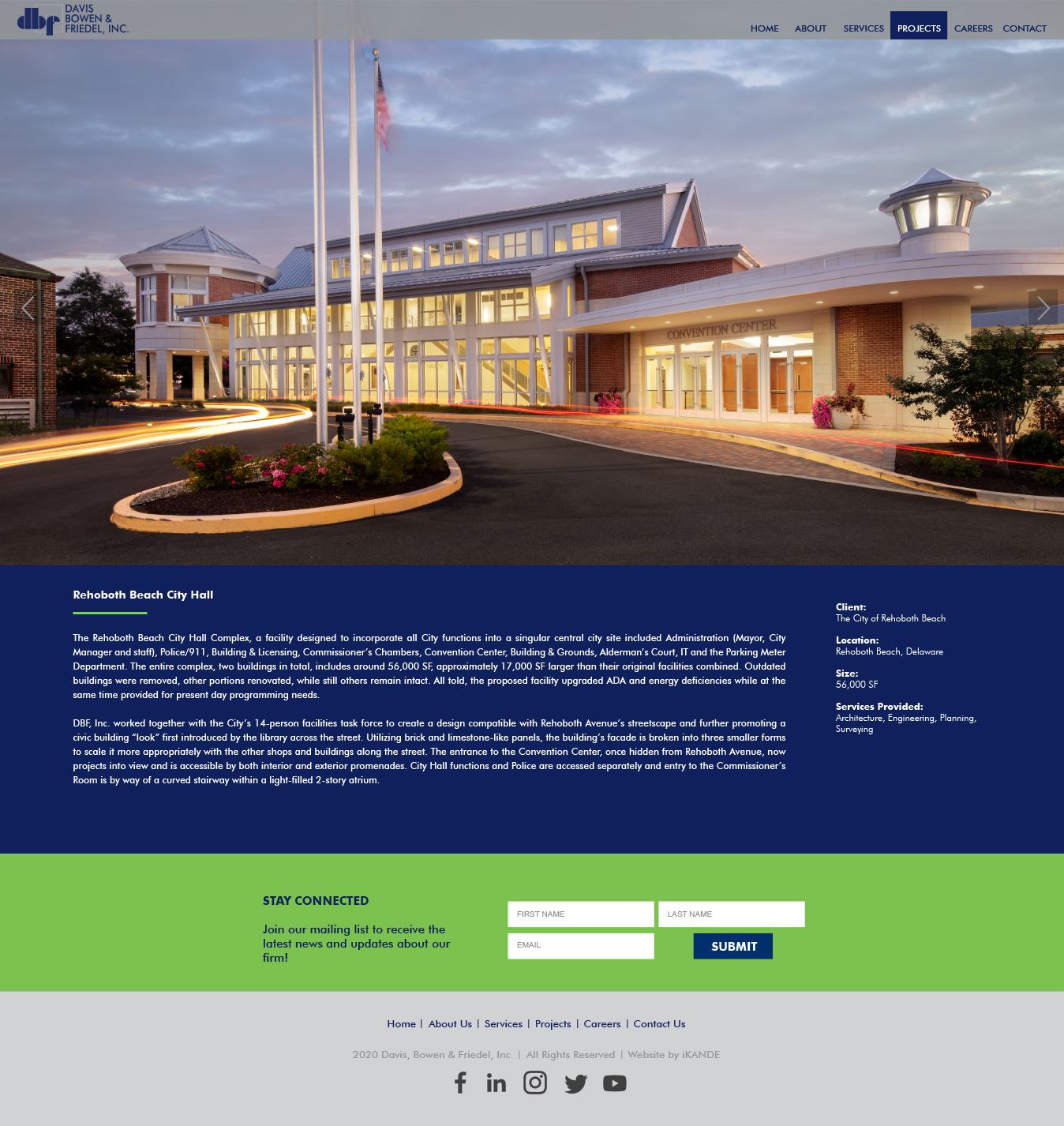 DBF inc Rehoboth project page and web design by iKANDE