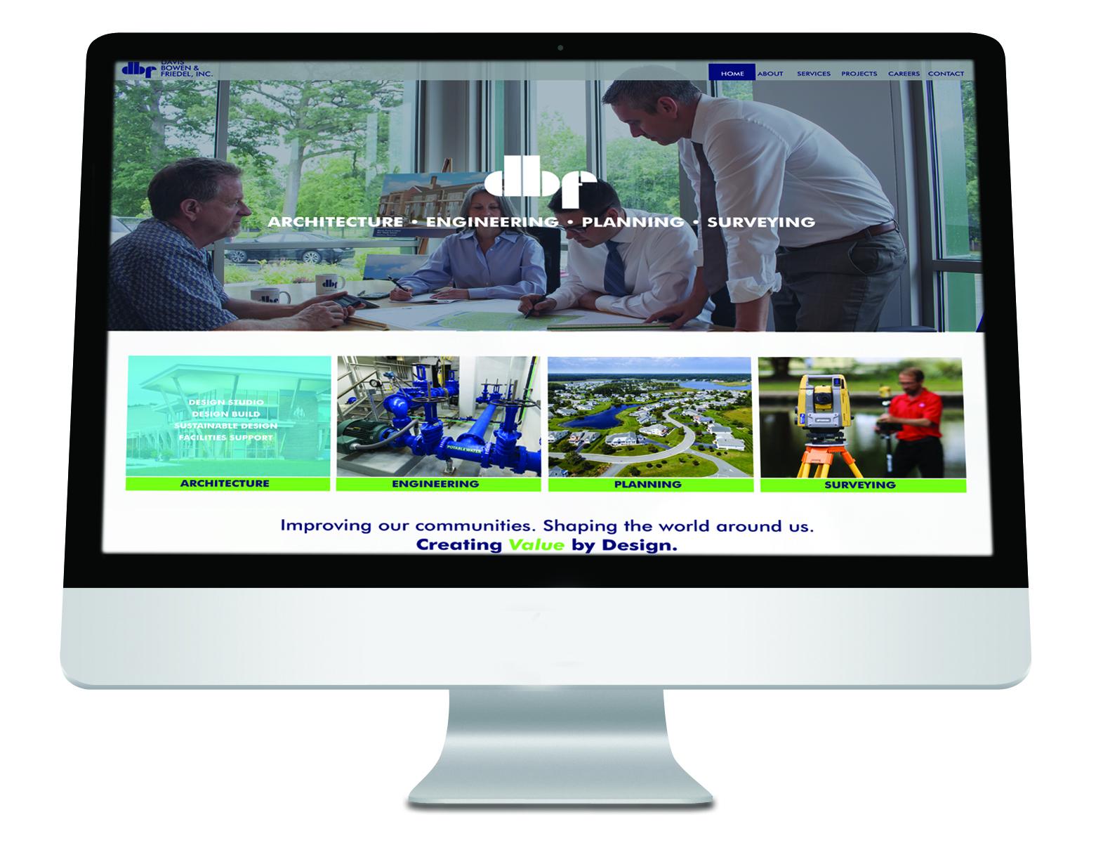 Davis Bowen & Friedel, inc website by iKANDE web design