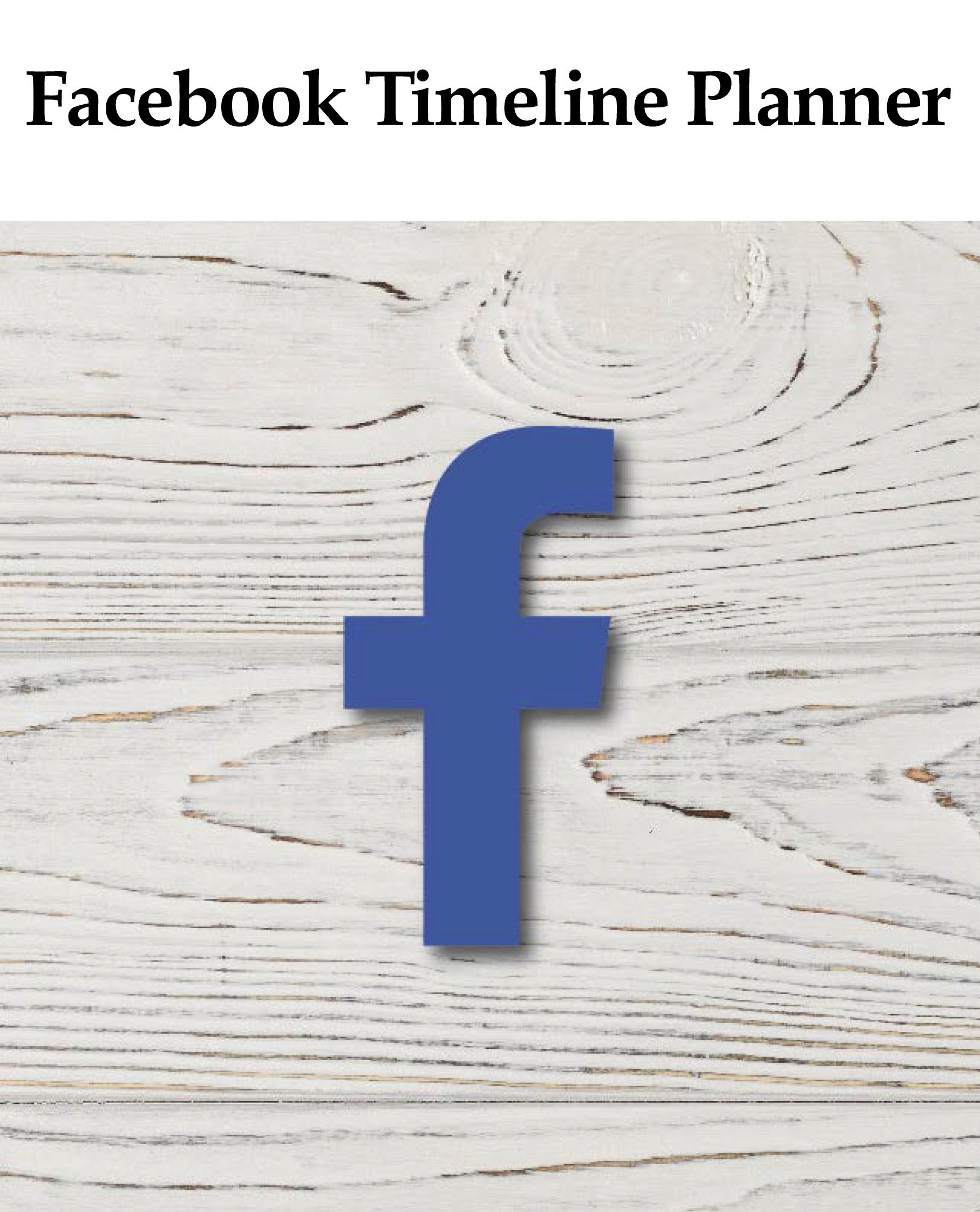 Cover of Facebook Timeline Planner by iKANDE web design