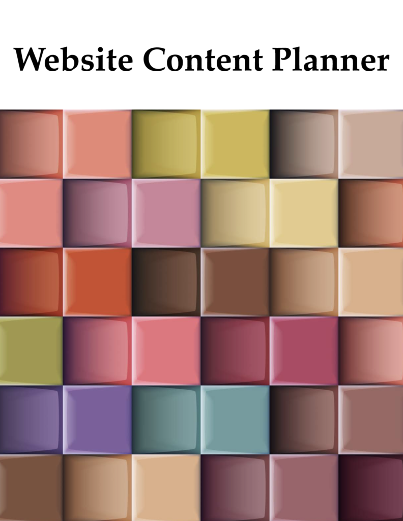 website content planner by ikande web design
