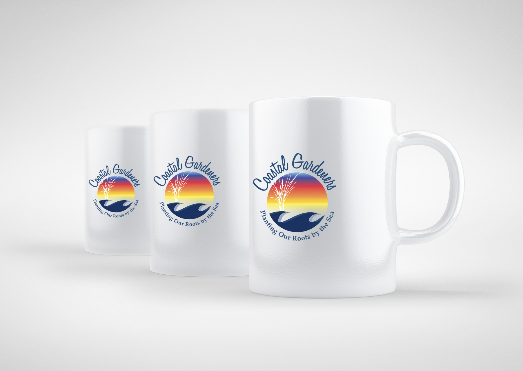 Coastal Gardeners, Delaware, logo and mug design by iKANDE