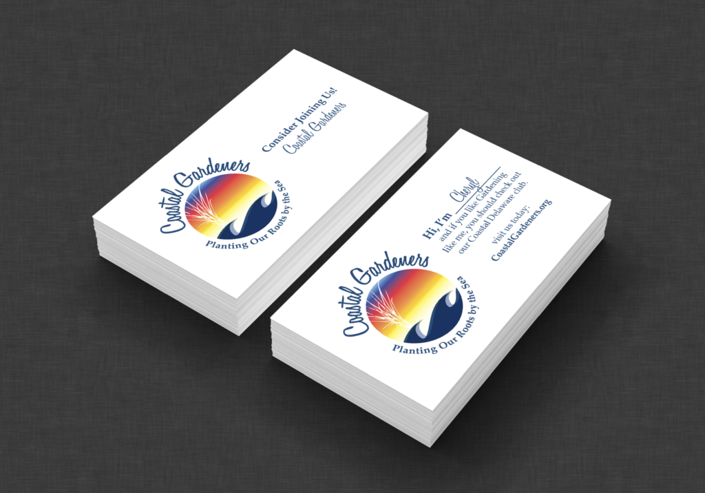 Coastal Gardeners, Delaware, logo and business card design by iKANDE