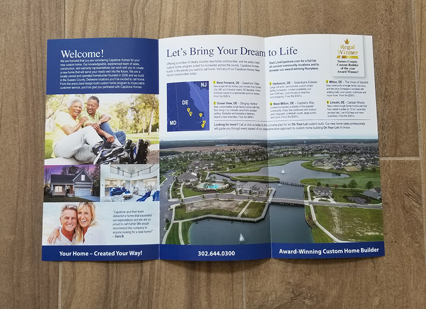 Capstone Homes Brochure inside designed by ikande