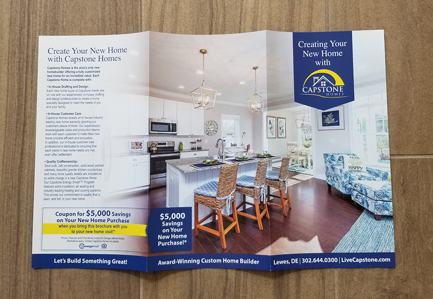 Capstone Homes Brochure outside designed by ikande