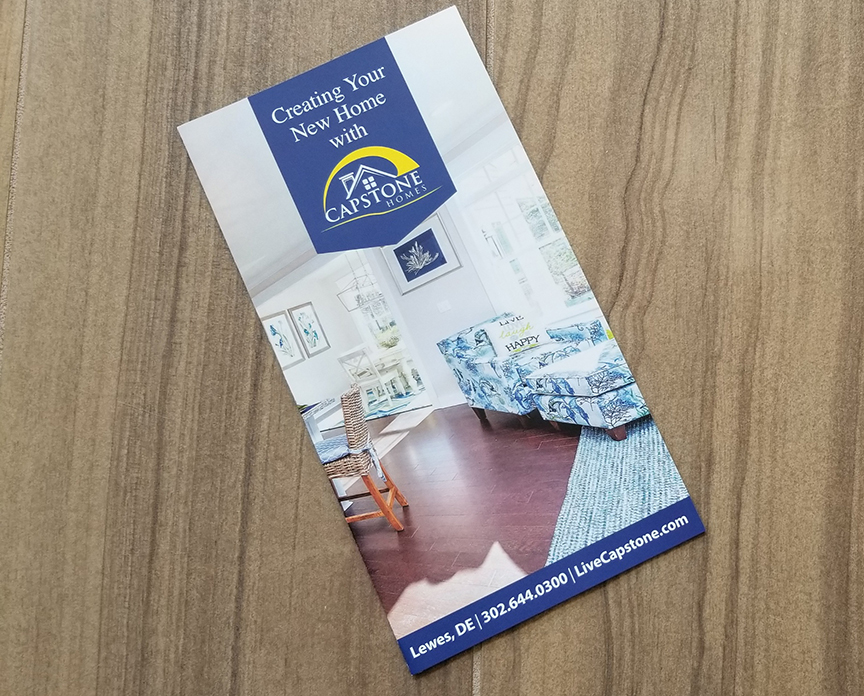 Capstone Homes Brochure front cover designed by ikande