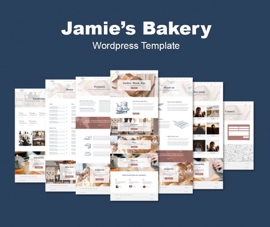 Bakery Quick Live WordPress template offered by iKANDE